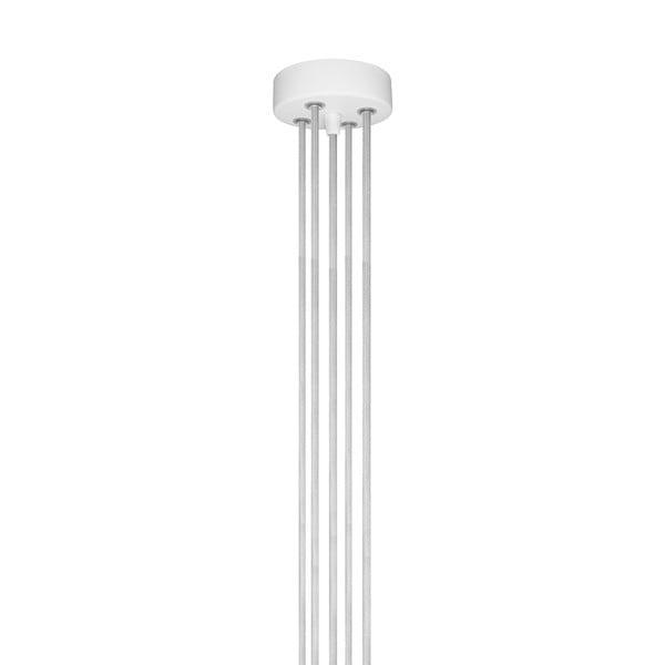 Závěsné svítidlo s 5 bílými kabely a zlatou objímkou Bulb Attack Cero Group