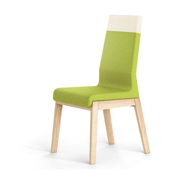 Zelená židle z dubového dřeva Absynth Kyla Two