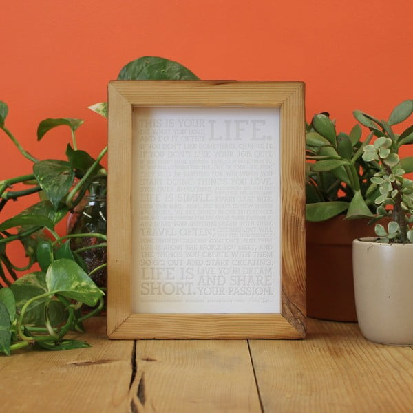 Plakát White Manifesto s barevnými voskovkami, 13x18 cm