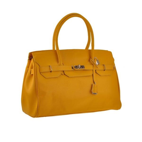 Žlutá kožená kabelka Florence Gallina