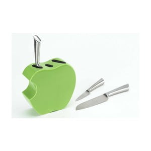 Set nožů se stojanem Green Apple, 3 ks