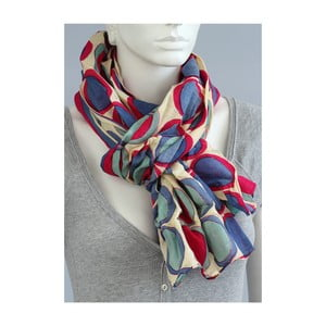 Pestrobarevný puntíkatý šátek