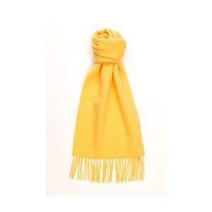 Žlutá kašmírová šála Hogarth, 180x25cm