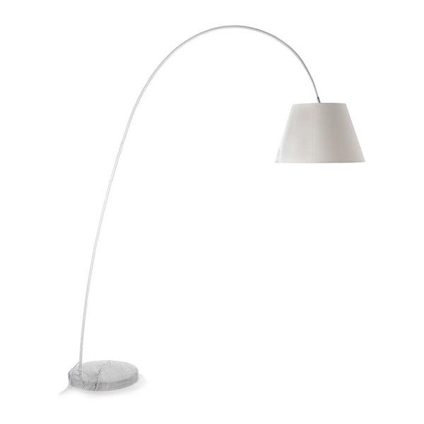 Stojacia lampa s bielym tienidlom a mramorovou základňou Tomasucci Smarty