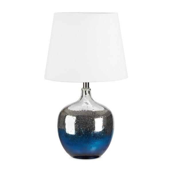 Niebiesko-biała lampa stołowa Markslöjd Ocean