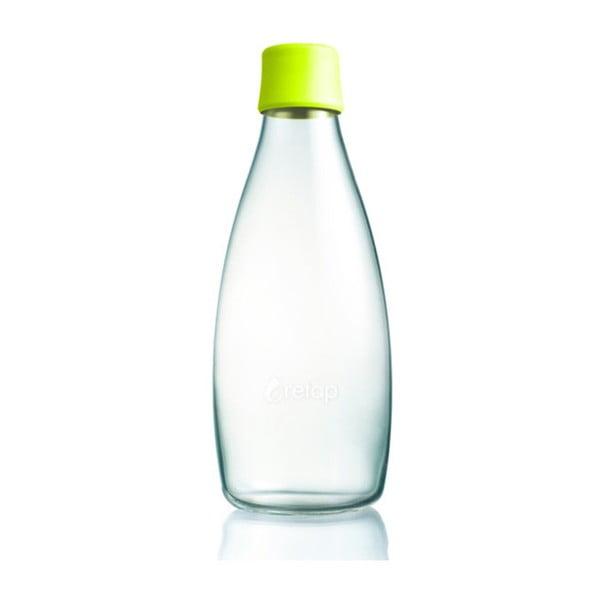 Citronově žlutá skleněná lahev ReTap s doživotní zárukou, 800ml
