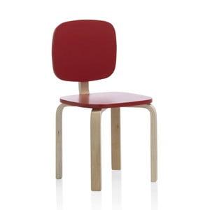 Dětská židlička s červeným opěradlem Geese Petit
