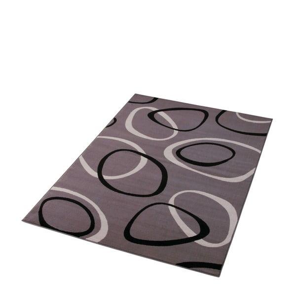 Šedý koberec Hanse Home Prime Pile Rings Grey, 160x230cm