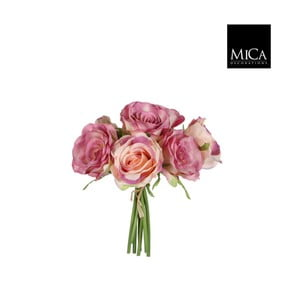 Umělá květina Ego Dekor Kytice růžových růží