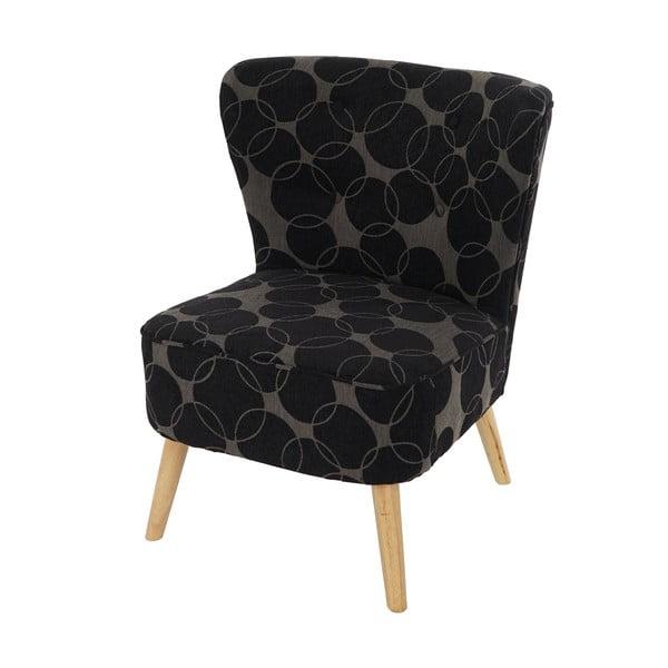 Křeslo Vaasa Lounge, černošedý textilní potah