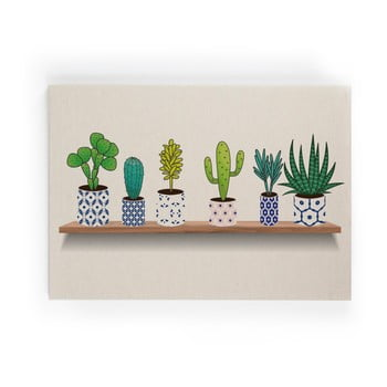 Tablou pe pânză Really Nice Things Lino Cactus Shelve, 50 x 70 cm