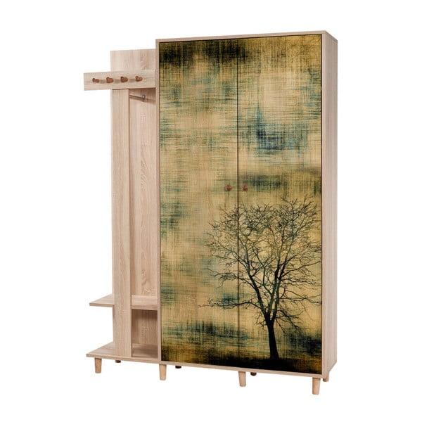 Garmanto Tree barna előszoba szekrény, magasság 194 cm