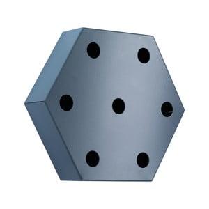 Stojan na víno Hexagon, modrý
