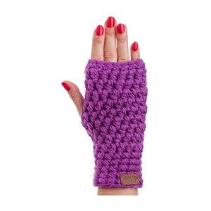 Fialové ručně háčkované návleky DOKE Violet