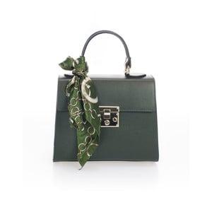 Zelená kožená kabelka Lisa Minardi Nudora