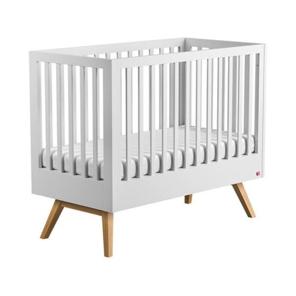 Mitra fehér rácsos ágy, 120 x 60 cm - Vox