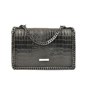 Černá kožená kabelka Carla Ferreri Victoria