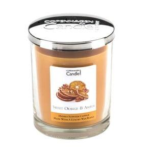 Aroma svíčka s vůní pomeranče a jantaru Copenhagen Candles, doba hoření 40 hodin
