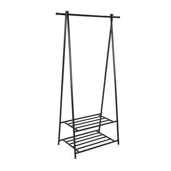 Suport metalic cu 2 rafturi pentru haine Songmics, lățime 87,5 cm imagine
