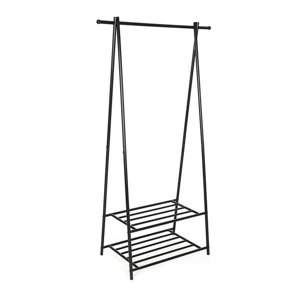 Kovový stojan s 2 policemi na oblečení Songmics, šířka87,5cm