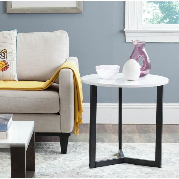 Černý odkládací stolek s bílou deskou Safavieh Alyssa