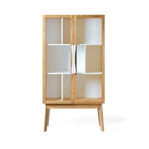 Bílá knihovna/vitrína Woodman Avon