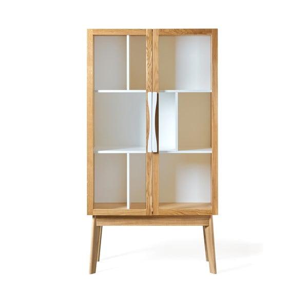 Bibliotecă / vitrină Woodman Avon, alb