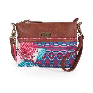 Růžovo-modrá kabelka SKPA-T, 26 x 19 cm
