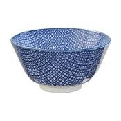Modrá porcelánová miska na rýži Tokyo Design Studio Square, ⌀12cm
