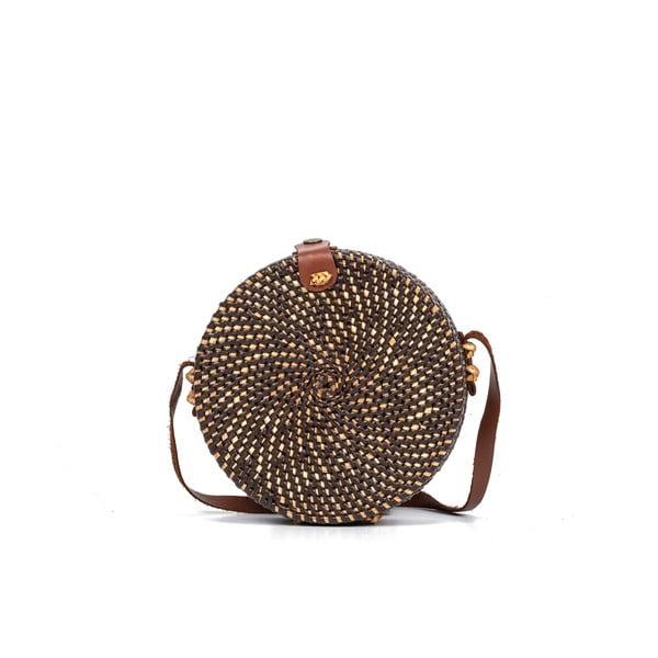 Dámska kabelka s koženým popruhom Nina Beratti Loane Noir