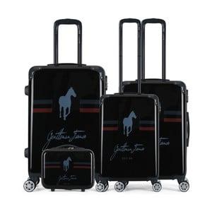 Sada 4 černých cestovních kufrů na kolečkách GENTLEMAN FARMER Integre & Vanity Malo