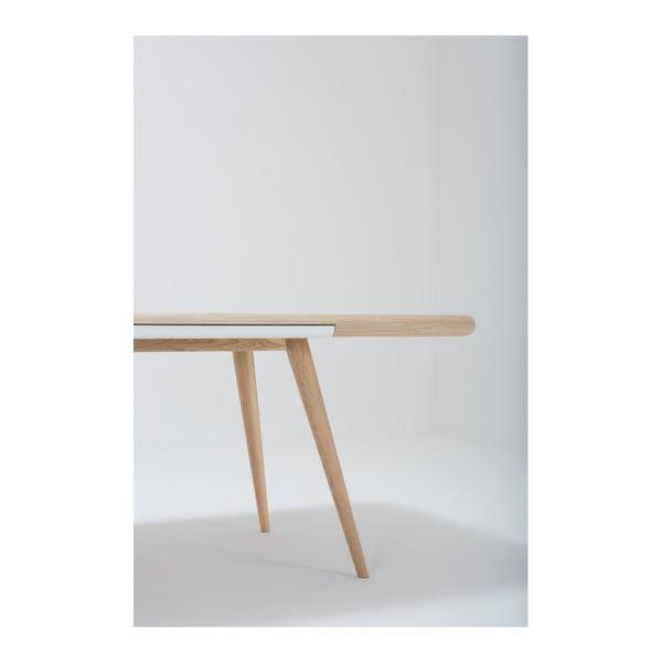 Jídelní stůl s konstrukcí z masivního dubového dřeva se zásuvkou Gazzda Ena, 220x100cm