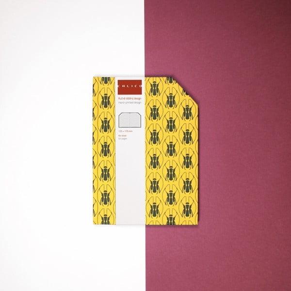 Ručně šitý linkovaný zápisník Calico Madika