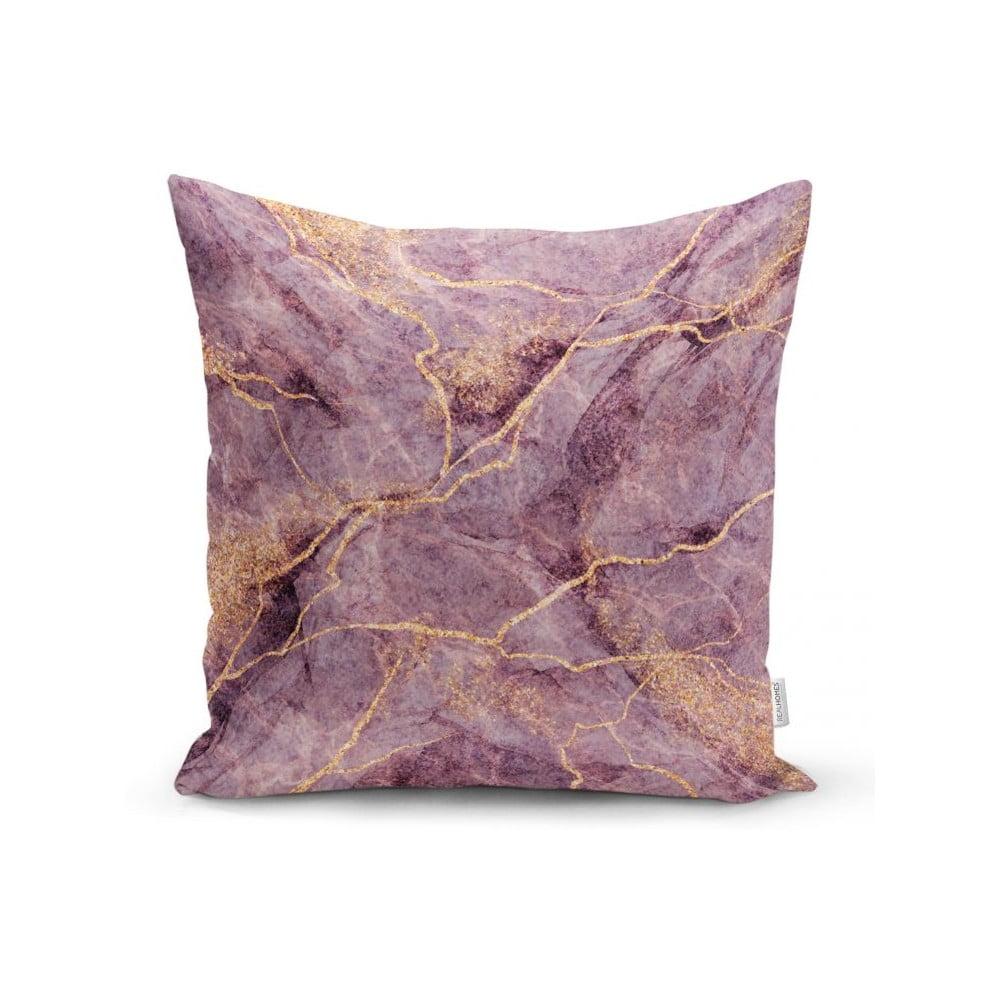 Povlak na polštář Minimalist Cushion Covers Lilac Marble, 45 x 45 cm