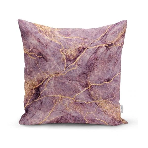 Față de pernă Minimalist Cushion Covers Lilac Marble, 45 x 45 cm