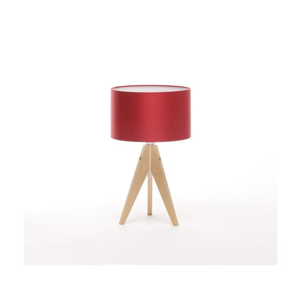 Stolní lampa Artista Birch/Red, 28 cm