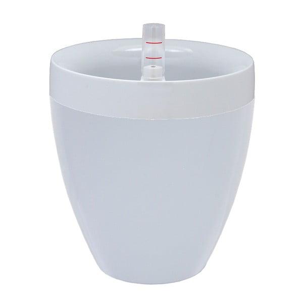 Biała doniczka z systemem nawadniania Plastia Calimera A2, ø 17 cm