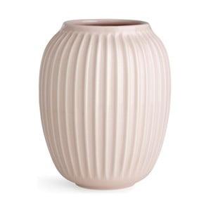 Světle růžová kameninová váza Kähler Design Hammershoi,výška 20 cm