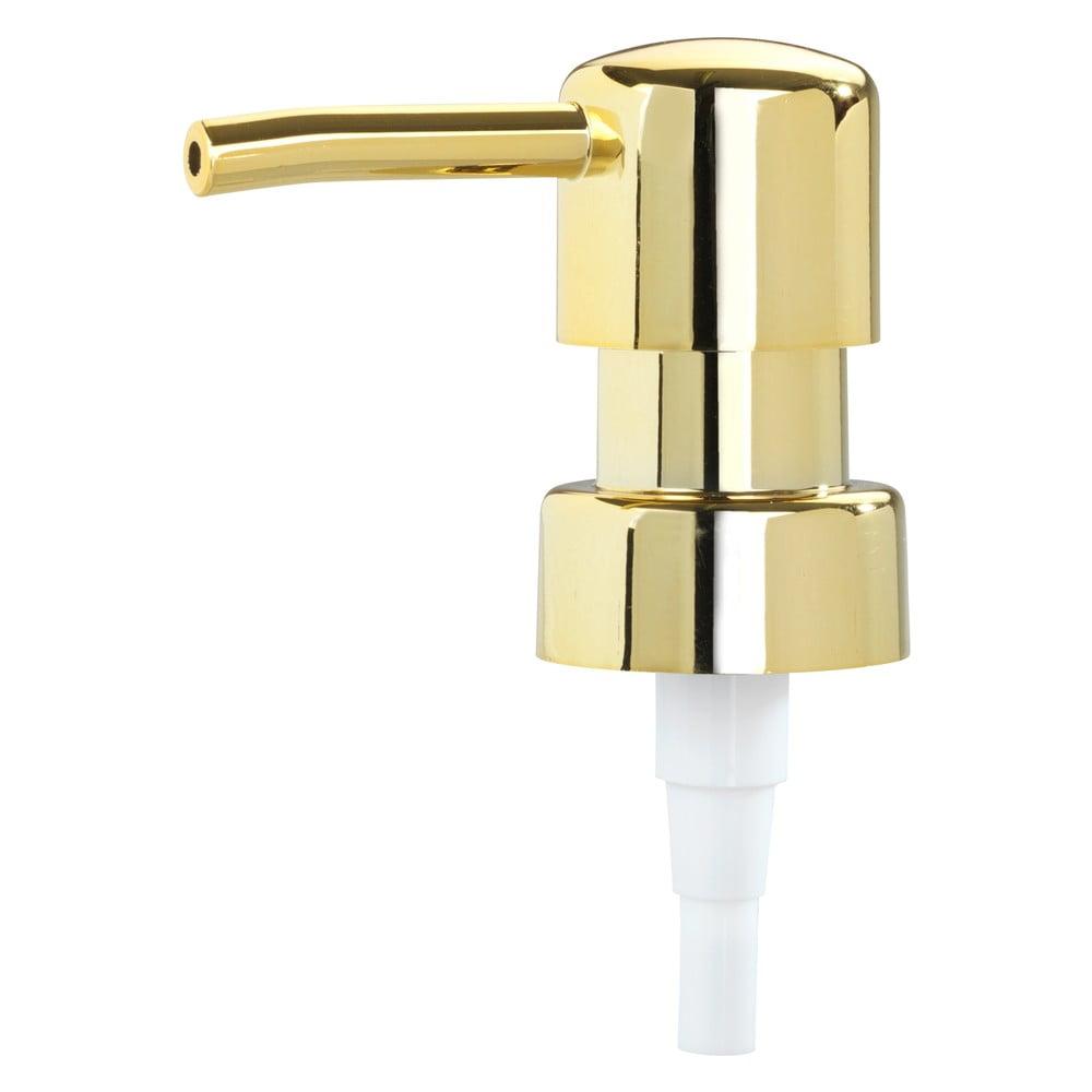 Produktové foto Pumpička na dávkovač mýdla ve zlaté barvě Wenko