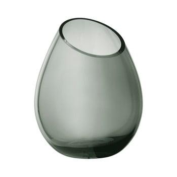 Vază din sticlă Blomus Raindrop, înălțime 24 cm, verde