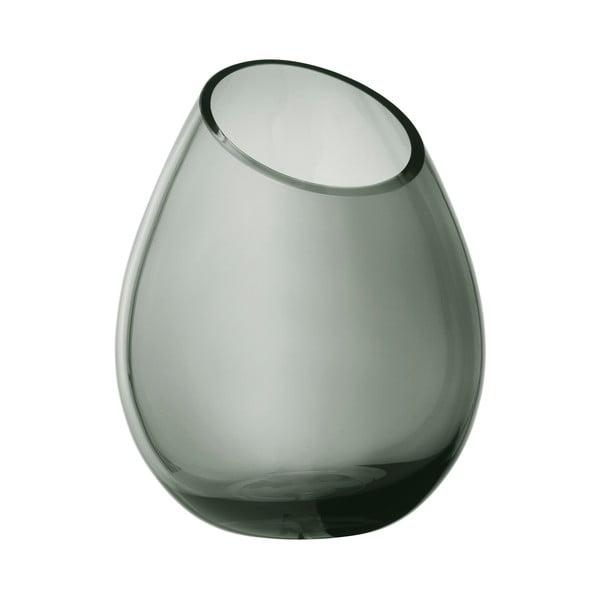Zelená sklenená váza Blomus Raindrop,výška24cm