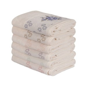 Sada 6 bavlněných ručníků Daireli Marisol, 50 x 90 cm