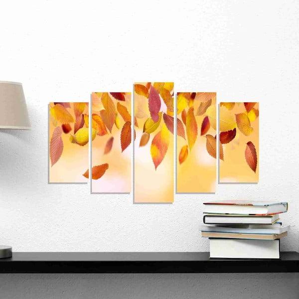 5dílný obraz Leaves