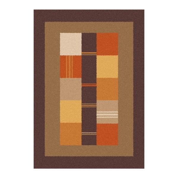 Hnědooranžový koberec Universal Boras Donno, 133x190cm
