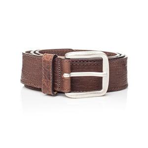 Hnědý kožený pánský pásek Ferruccio Laconi Sven, délka 115 cm