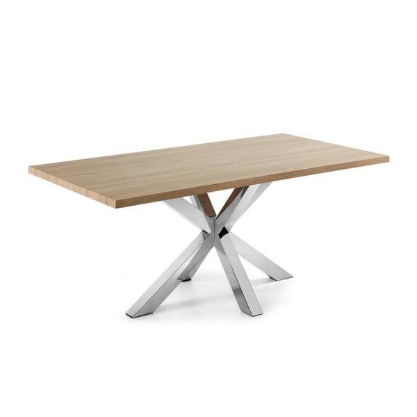 Jídelní stůl s kovovým podnožím La Forma Arya Natural,délka200cm