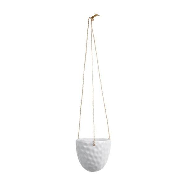 Burly fehér felfüggeszthető kerámia virágcserép - PT LIVING