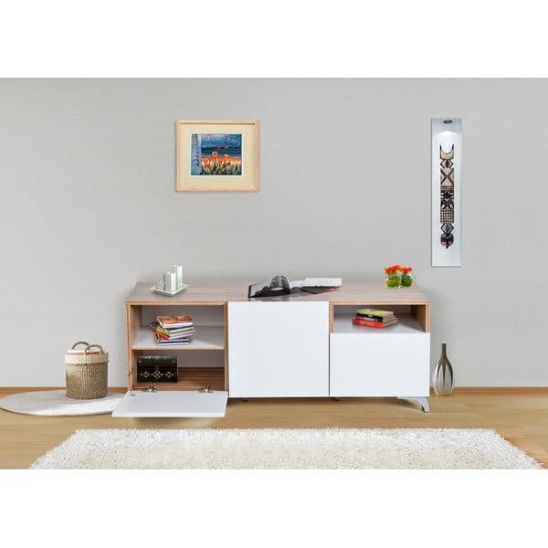 Úložná komoda Decoflex Floor, bílá/samba