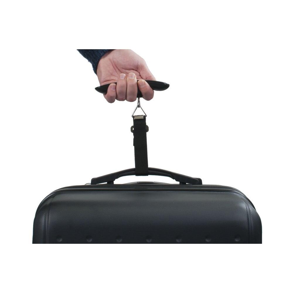 Černá elektronická váha pro zvážení kufru Bluestar