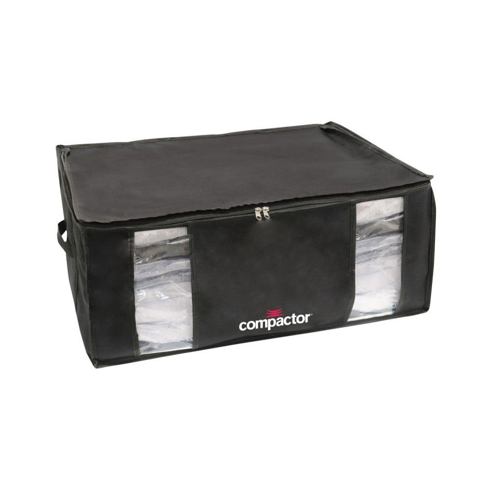 Černý úložný box s vakuovým obalem Compactor Black Edition, objem 210 l
